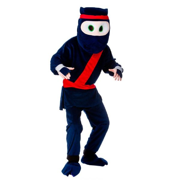 Adult Deluxe Mini Mascot Costume for Animals Creatures Fancy Dress Mens Ladies Cartoon Ninja
